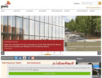Main page screenshot of pwc.fr