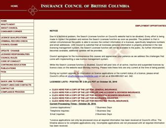 insurancecouncilofbc.com screenshot