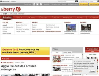 Main page screenshot of leberry.fr