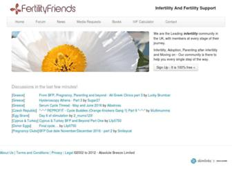 Thumbshot of Fertilityfriends.co.uk