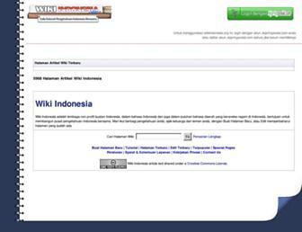 Thumbshot of Wikiindonesia.org