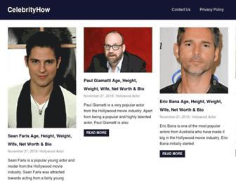 celebrityhow.com screenshot