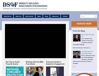Main page screenshot of dsef.org