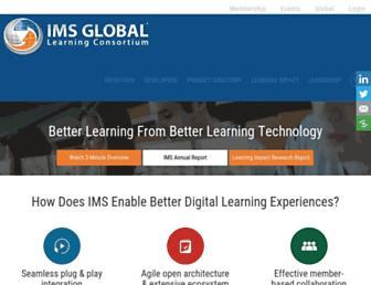 Main page screenshot of imsglobal.org