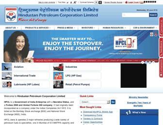 hindustanpetroleum.com screenshot