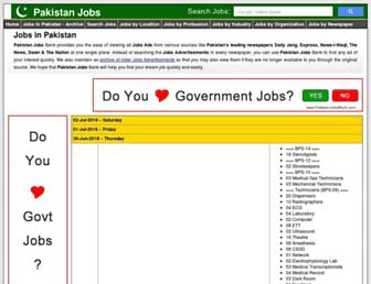 Thumbshot of Pakistanjobsbank.com