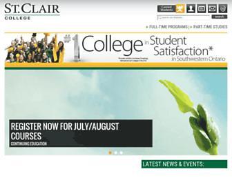 Thumbshot of Stclaircollege.ca