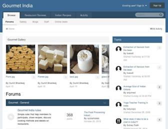 gourmetindia.com screenshot