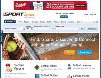 softball.isport.com screenshot