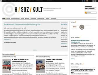 Main page screenshot of hsozkult.geschichte.hu-berlin.de