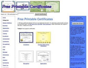 freeprintablecertificates.net screenshot