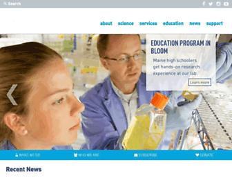 Main page screenshot of bigelow.org