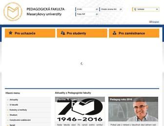 ped.muni.cz screenshot