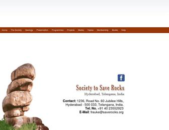 Main page screenshot of saverocks.org