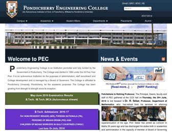 pec.edu screenshot