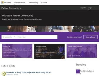 microsoftpartnercommunity.com screenshot