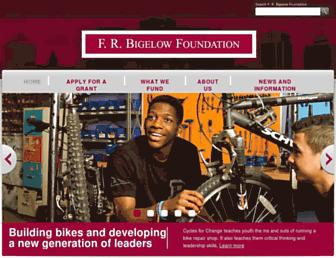 Main page screenshot of frbigelow.org