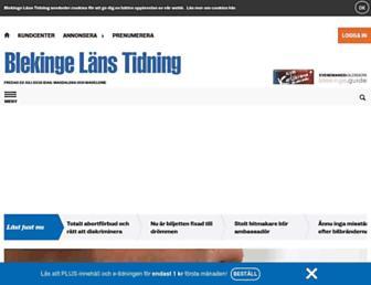 Main page screenshot of blt.se