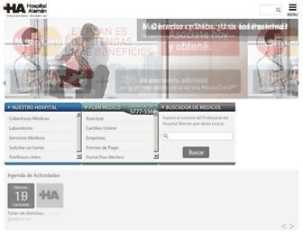 hospitalaleman.com screenshot