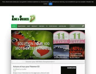 zoneasoluces.fr screenshot