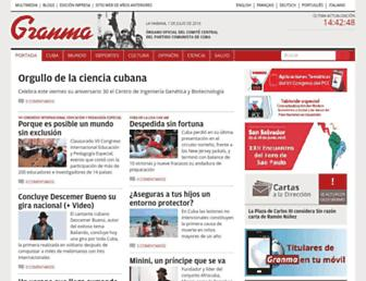 Main page screenshot of granma.cu