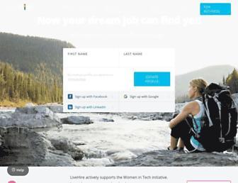 livehire.com screenshot