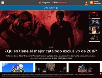 Main page screenshot of ps3p.es
