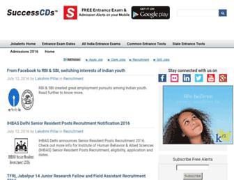Main page screenshot of jobalerts.successcds.net
