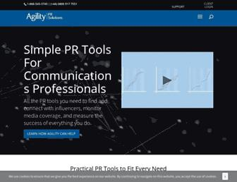 agilitypr.com screenshot