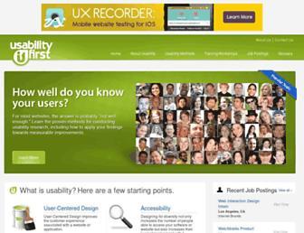 usabilityfirst.com screenshot
