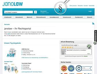 Main page screenshot of janolaw.de