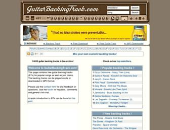 guitarbackingtrack.com screenshot