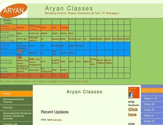 Thumbshot of Aryanclasses.com