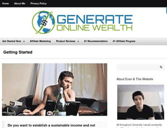 generateonlinewealth.com screenshot