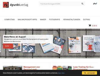 Main page screenshot of dpunkt.de