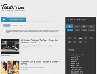 Main page screenshot of labs.ebuzzing.de