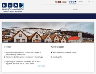 Main page screenshot of rha.is