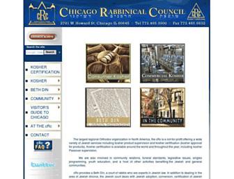 Main page screenshot of crcweb.org