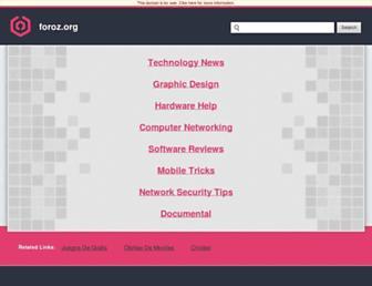 Main page screenshot of foroz.org