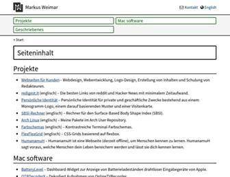 markusweimar.de screenshot
