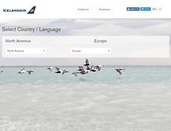 Main page screenshot of icelandair.cz