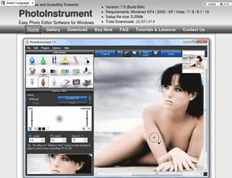 photoinstrument.com screenshot