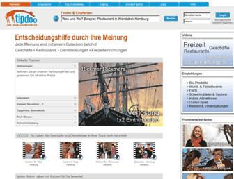Main page screenshot of tipdoo.de