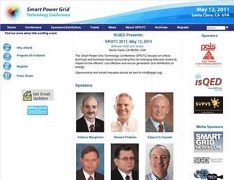 Main page screenshot of spgtc.org