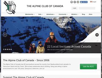alpineclubofcanada.ca screenshot