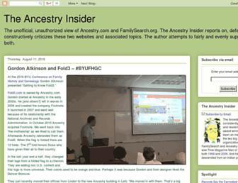 Thumbshot of Ancestryinsider.blogspot.com