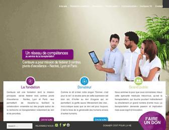 Main page screenshot of fondation-centaure.org