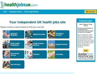 healthjobsuk.com screenshot