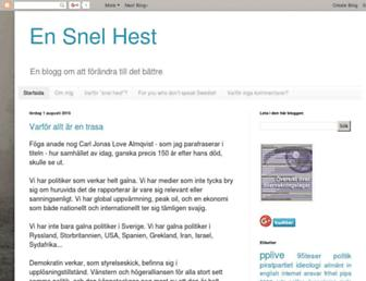 Main page screenshot of snelhest.janssons.org