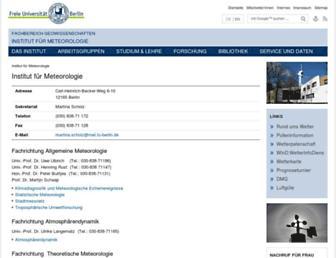 Main page screenshot of met.fu-berlin.de